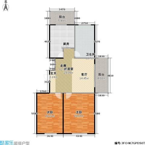康居新城2室0厅1卫1厨146.00㎡户型图