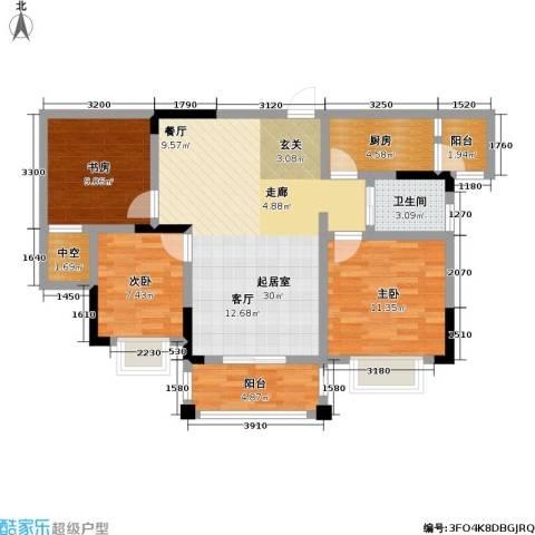 兴茂盛世华都3室0厅1卫1厨89.00㎡户型图