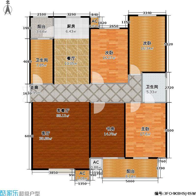 丽景溪城165.60㎡V 四室两厅两卫户型4室2厅2卫