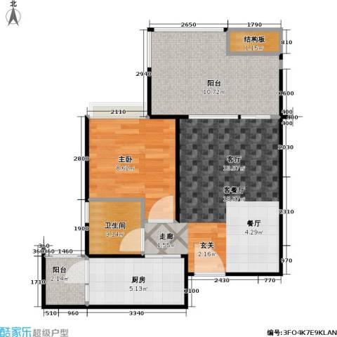 DADA的草地1室1厅1卫1厨67.00㎡户型图