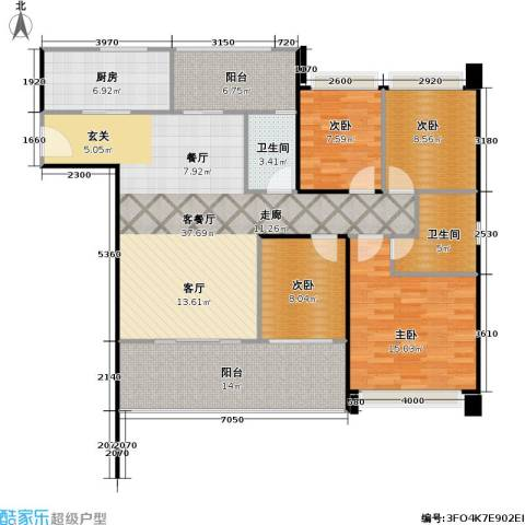 DADA的草地4室1厅2卫1厨152.00㎡户型图