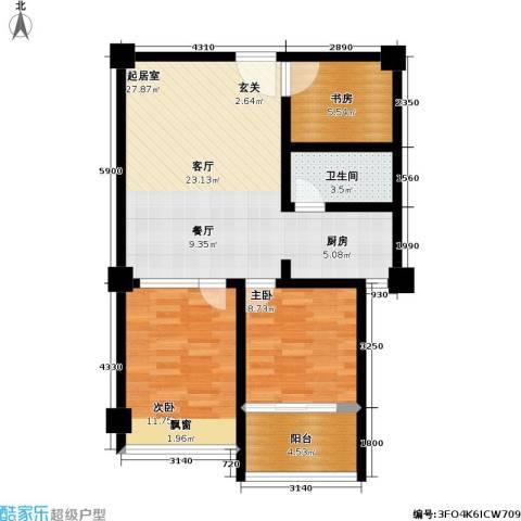 中茂橄榄城3室0厅1卫0厨72.00㎡户型图