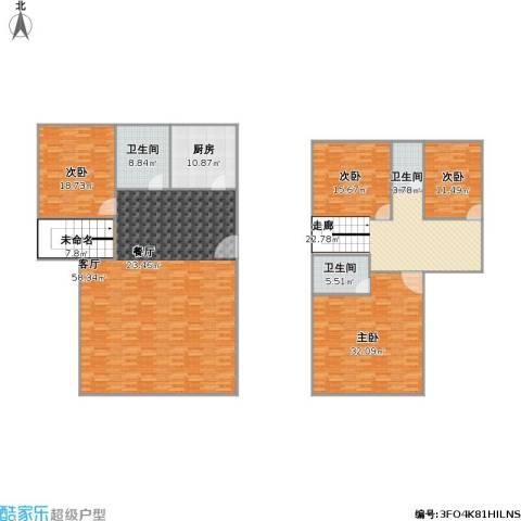 一城花园4室1厅3卫1厨284.00㎡户型图