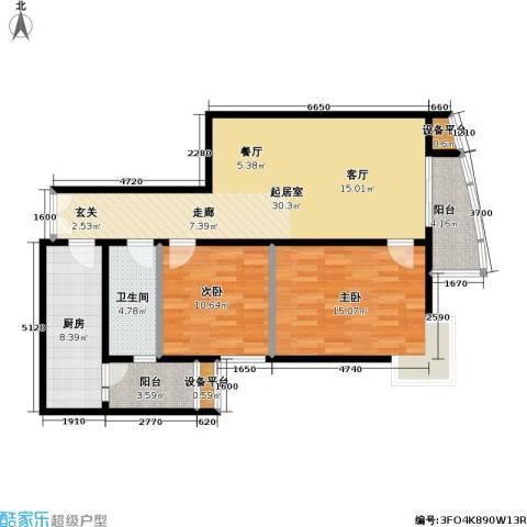 芍药居北里小区2室0厅1卫1厨89.00㎡户型图
