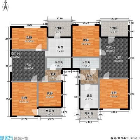 欢乐文城三期(长丰园)5室0厅2卫1厨208.00㎡户型图