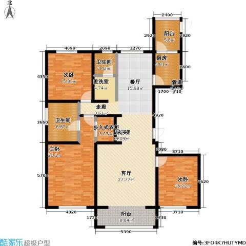 昆仑唐人中心3室0厅2卫1厨172.00㎡户型图