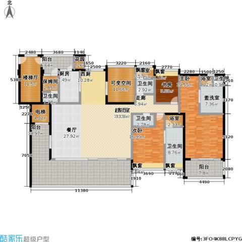 合景・汀澜海岸3室0厅5卫1厨267.00㎡户型图