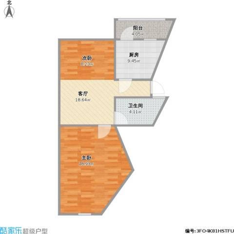 采荷东区1室1厅1卫1厨69.00㎡户型图