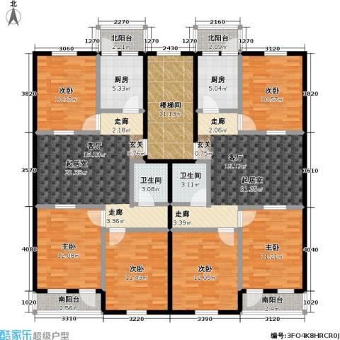 欢乐文城三期(长丰园)6室0厅2卫2厨211.00㎡户型图