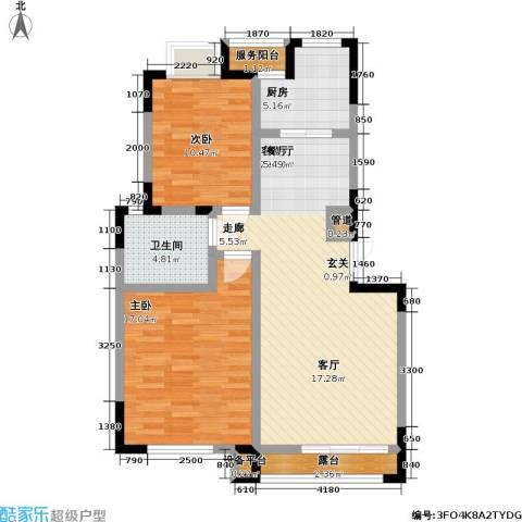 大雄・郁金香舍2室1厅1卫1厨104.00㎡户型图