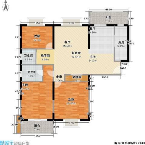 九亭生活佳园3室0厅2卫1厨140.00㎡户型图
