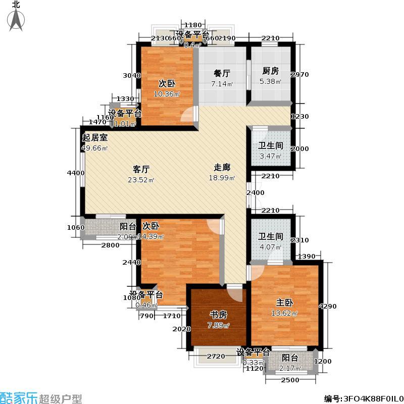 万年花城・濠景160.94㎡三期10号楼四室三厅二卫户型