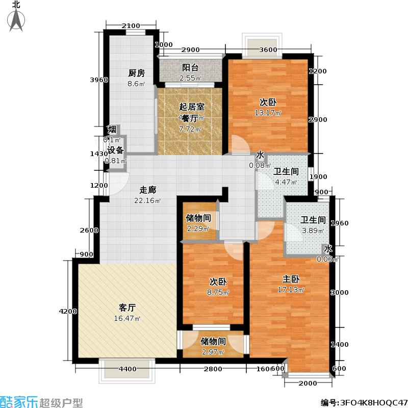 博雅德园三室二厅户型