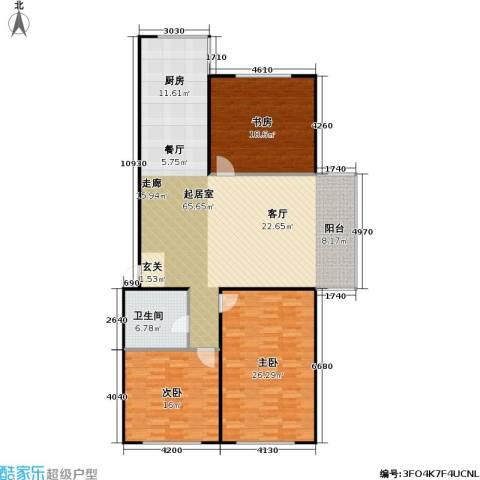 康居新城3室0厅1卫0厨175.00㎡户型图