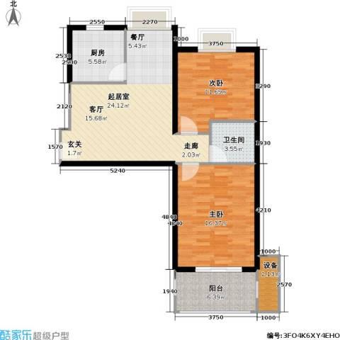 九亭生活佳园2室0厅1卫1厨75.00㎡户型图
