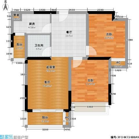 光谷8号2室0厅1卫1厨80.00㎡户型图