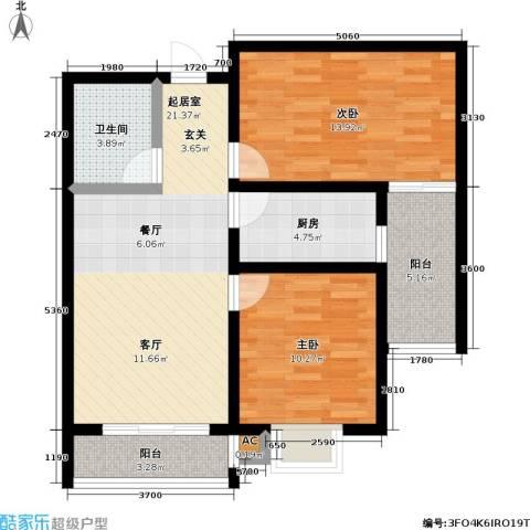 盛世桃城2室0厅1卫1厨92.00㎡户型图