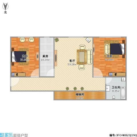 新天地小区2室1厅1卫1厨166.00㎡户型图