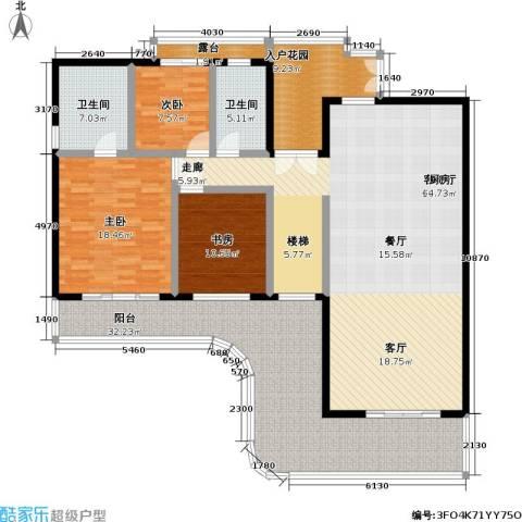 华润小径湾3室1厅2卫0厨170.00㎡户型图