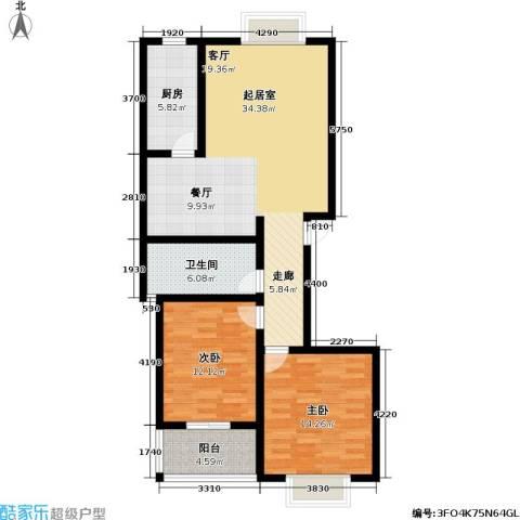 高新佳园2室0厅1卫1厨97.00㎡户型图