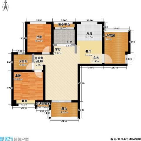 首创悦府2室0厅1卫0厨88.00㎡户型图