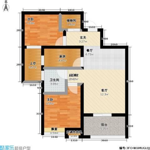 首创悦府2室0厅1卫1厨78.00㎡户型图