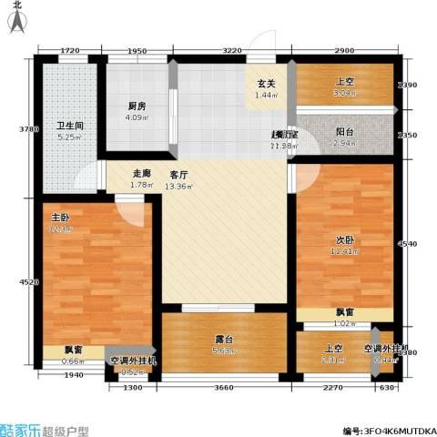 首创悦府2室0厅1卫1厨85.00㎡户型图