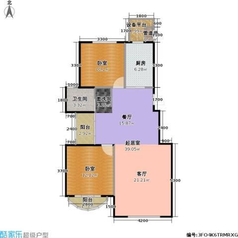 润德北京公园1卫1厨92.00㎡户型图
