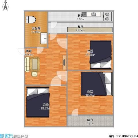 化纤小区3室2厅1卫1厨192.00㎡户型图