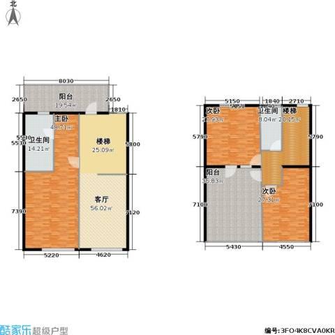 卓锦万代3室1厅2卫0厨278.00㎡户型图