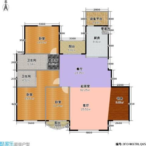 润德北京公园2卫1厨157.00㎡户型图