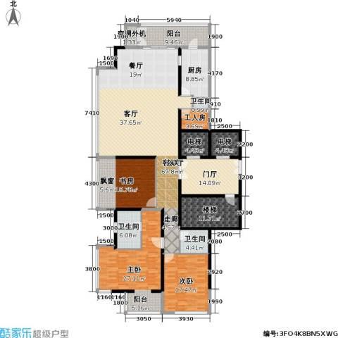 融泽府3室1厅3卫1厨222.00㎡户型图
