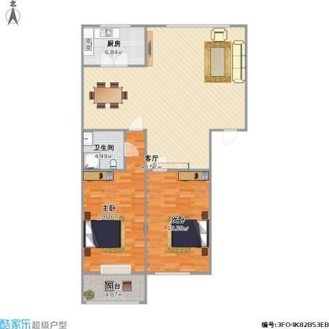 山景明珠花园2室1厅1卫1厨138.00㎡户型图