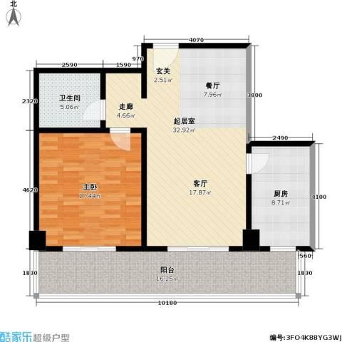 世纪东方城(远景)1室0厅1卫1厨91.00㎡户型图