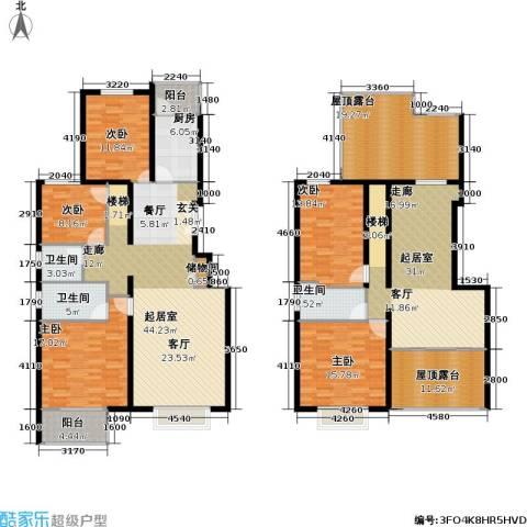 书海文园(骏城二期)5室0厅3卫1厨218.00㎡户型图