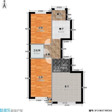 恒泰・望云轩2室0厅1卫0厨101.00㎡户型图