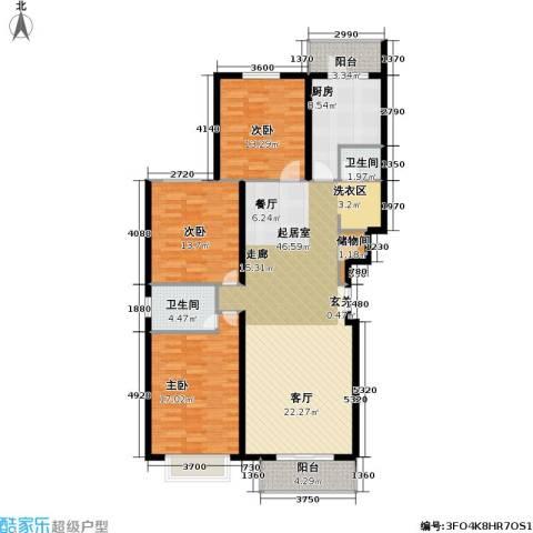 书海文园(骏城二期)3室0厅2卫1厨140.00㎡户型图