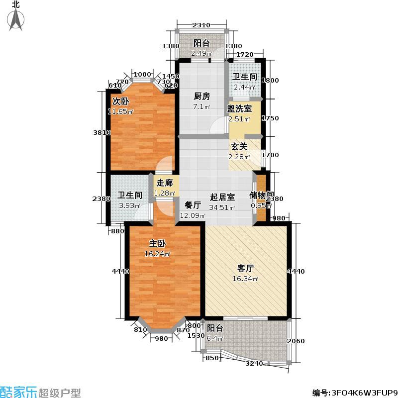 鑫龙苑二期房型: 二房; 面积段: 82 -109 平方米; 户型