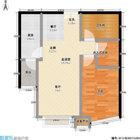 世纪东方城(远景)1室0厅1卫1厨72.00㎡户型图