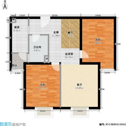 博雅德园2室0厅1卫1厨104.00㎡户型图