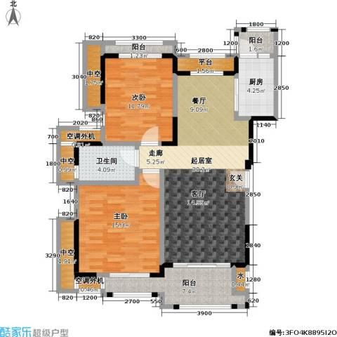 富力盈溪谷2室0厅1卫1厨95.00㎡户型图