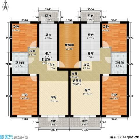 联通名苑4室0厅2卫0厨159.29㎡户型图