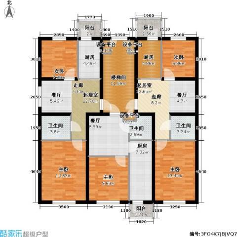 联通名苑5室1厅3卫3厨190.00㎡户型图