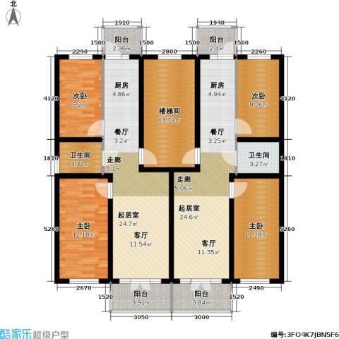 联通名苑4室0厅2卫0厨121.92㎡户型图