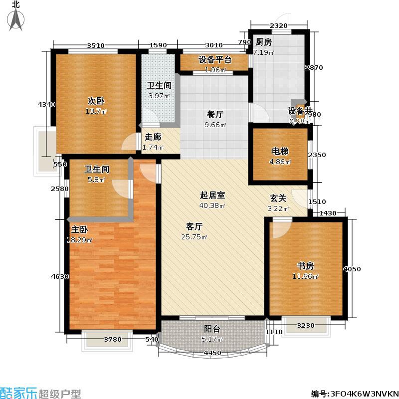天元襄阳公寓128.76㎡房型: 三房; 面积段: 128.76 -169.59 平方米; 户型