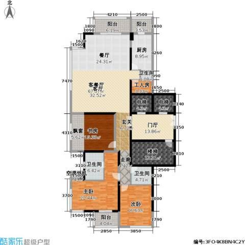 融泽府3室1厅3卫1厨229.00㎡户型图