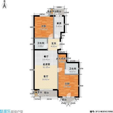 世纪东方城(远景)2室0厅2卫1厨106.00㎡户型图