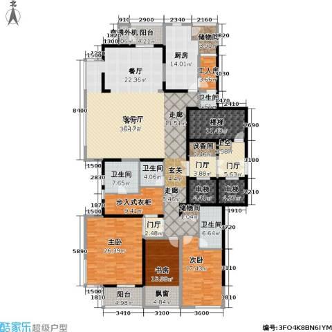 融泽府3室1厅4卫1厨284.00㎡户型图