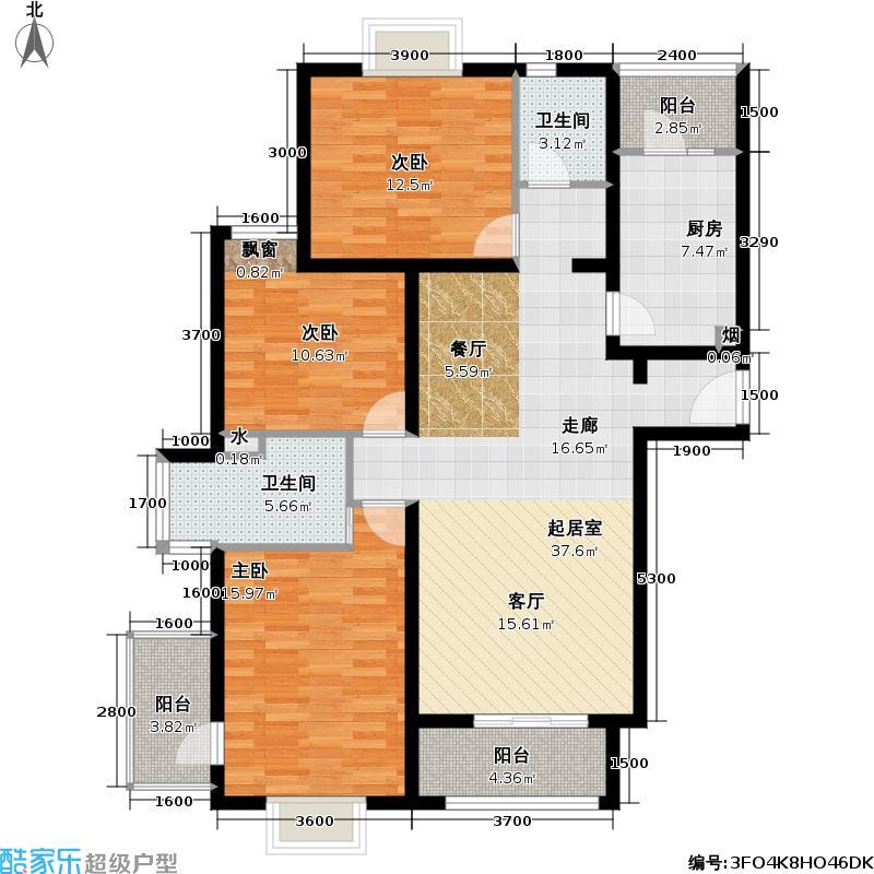博雅德园三室两厅两卫  户型