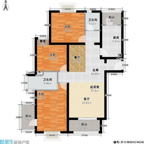 博雅德园3室0厅2卫1厨148.00㎡户型图